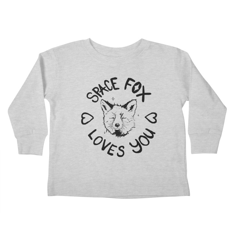 Space Fox Loves You (Dark) Kids Toddler Longsleeve T-Shirt by Red Means Recording
