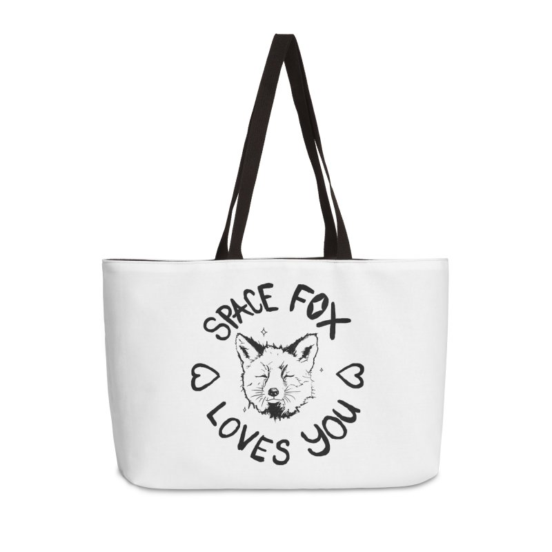 Space Fox Loves You (Dark) Accessories Weekender Bag Bag by Red Means Recording