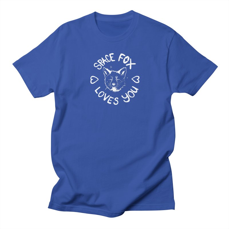 Space Fox Loves You (Light) Men's Regular T-Shirt by Red Means Recording