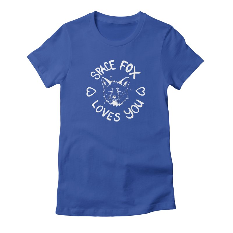 Space Fox Loves You (Light) Women's Fitted T-Shirt by Red Means Recording