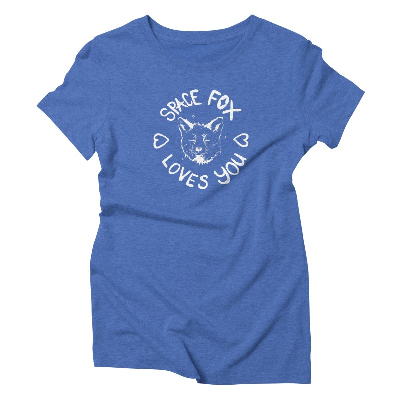Space Fox Loves You (Light) Women's Triblend T-Shirt by Red Means Recording