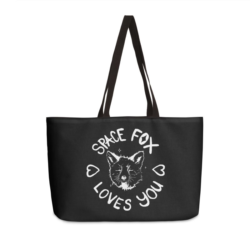 Space Fox Loves You (Light) Accessories Weekender Bag Bag by Red Means Recording