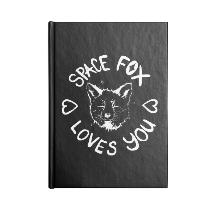 Space Fox Loves You (Light) Accessories Lined Journal Notebook by Red Means Recording
