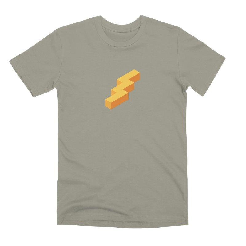 Lightning Noodle (Center) Men's Premium T-Shirt by Red Means Recording