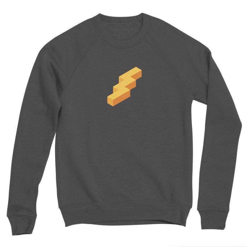 Lightning Noodle (Center) Men's Sponge Fleece Sweatshirt by Red Means Recording