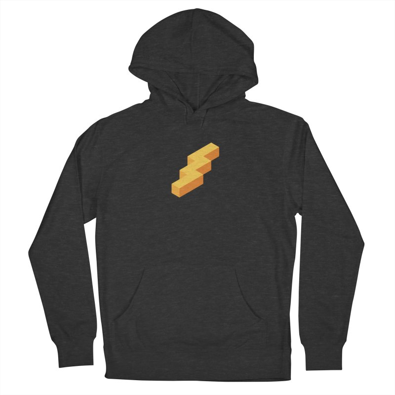 Lightning Noodle (Center) Men's French Terry Pullover Hoody by Red Means Recording