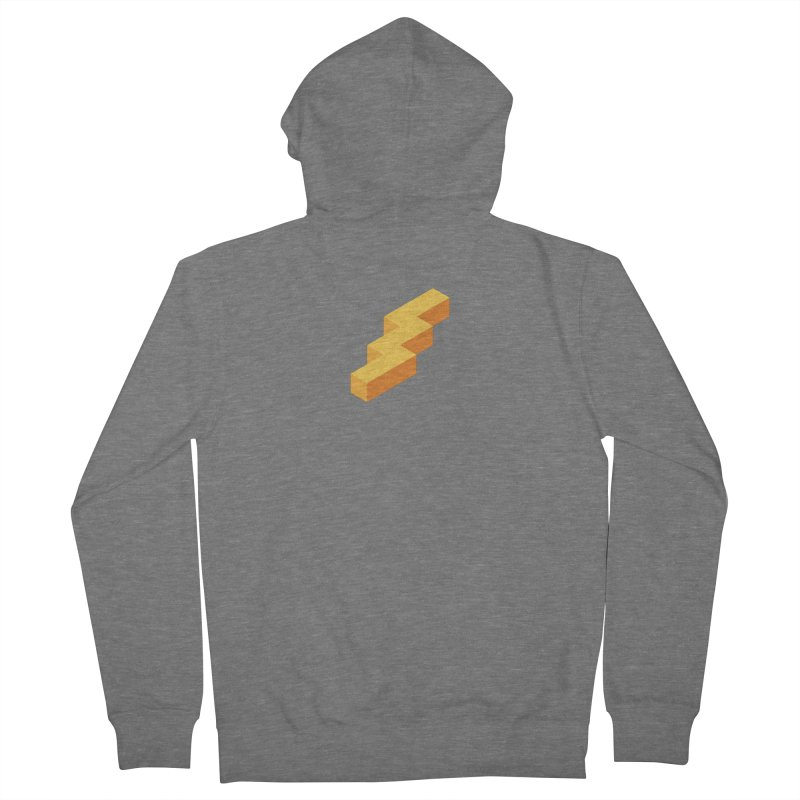 Lightning Noodle (Center) Men's French Terry Zip-Up Hoody by Red Means Recording