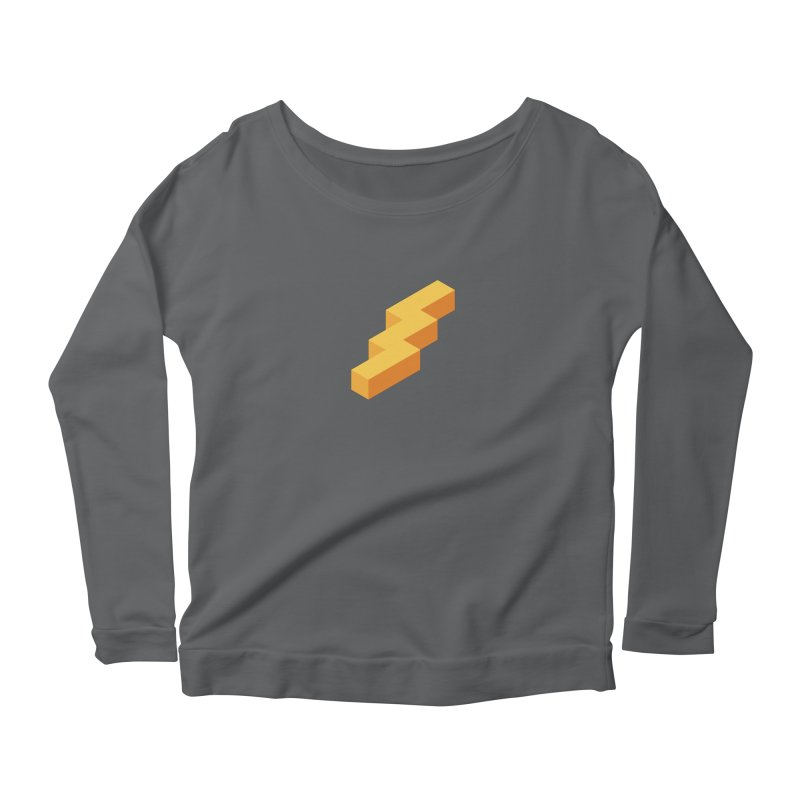 Lightning Noodle (Center) Women's Longsleeve T-Shirt by Red Means Recording