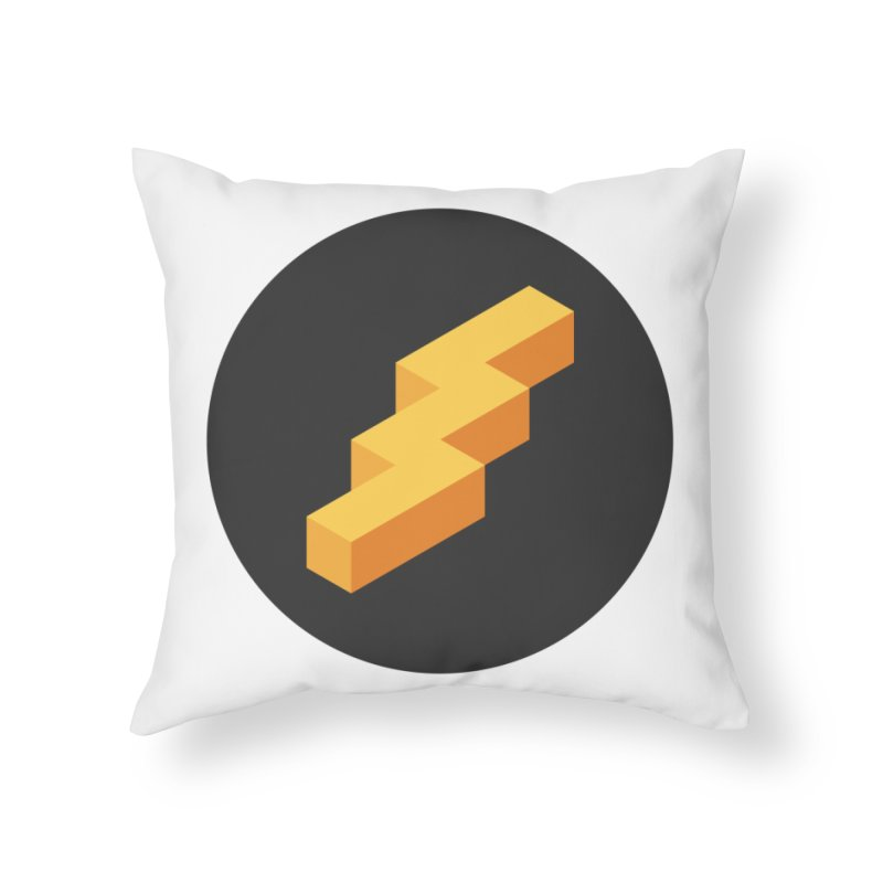 Lightning Noodle (Pocket) Home Throw Pillow by Red Means Recording
