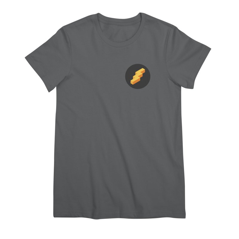 Lightning Noodle (Pocket) Women's Premium T-Shirt by Red Means Recording