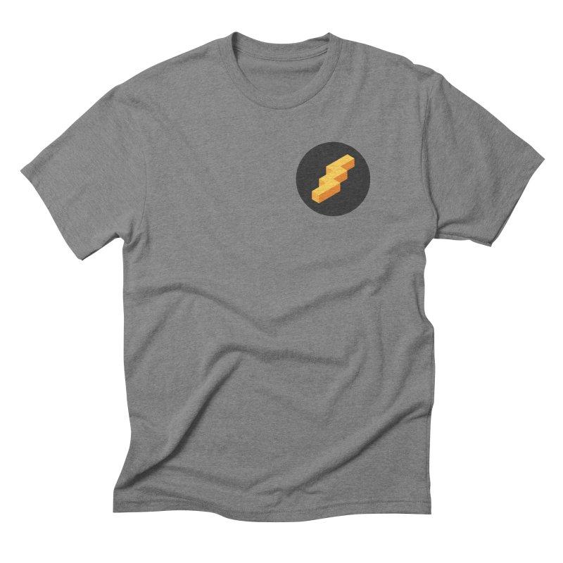 Lightning Noodle (Pocket) Men's Triblend T-Shirt by Red Means Recording