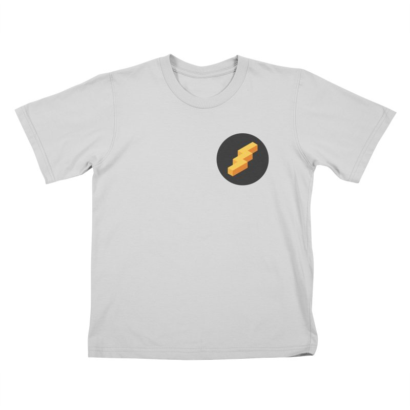 Lightning Noodle (Pocket) Kids T-Shirt by Red Means Recording