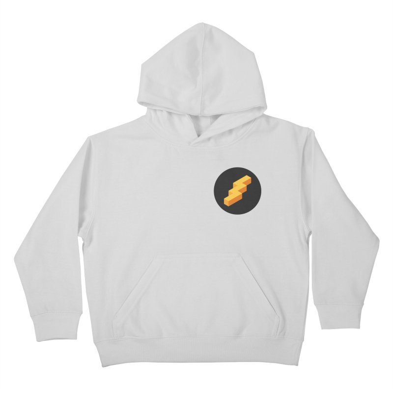 Lightning Noodle (Pocket) Kids Pullover Hoody by Red Means Recording