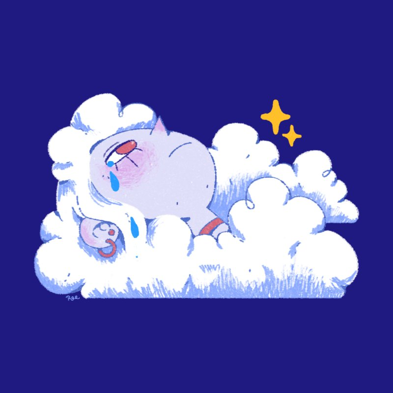Crying Cloud Accessories Sticker by Ree Artwork