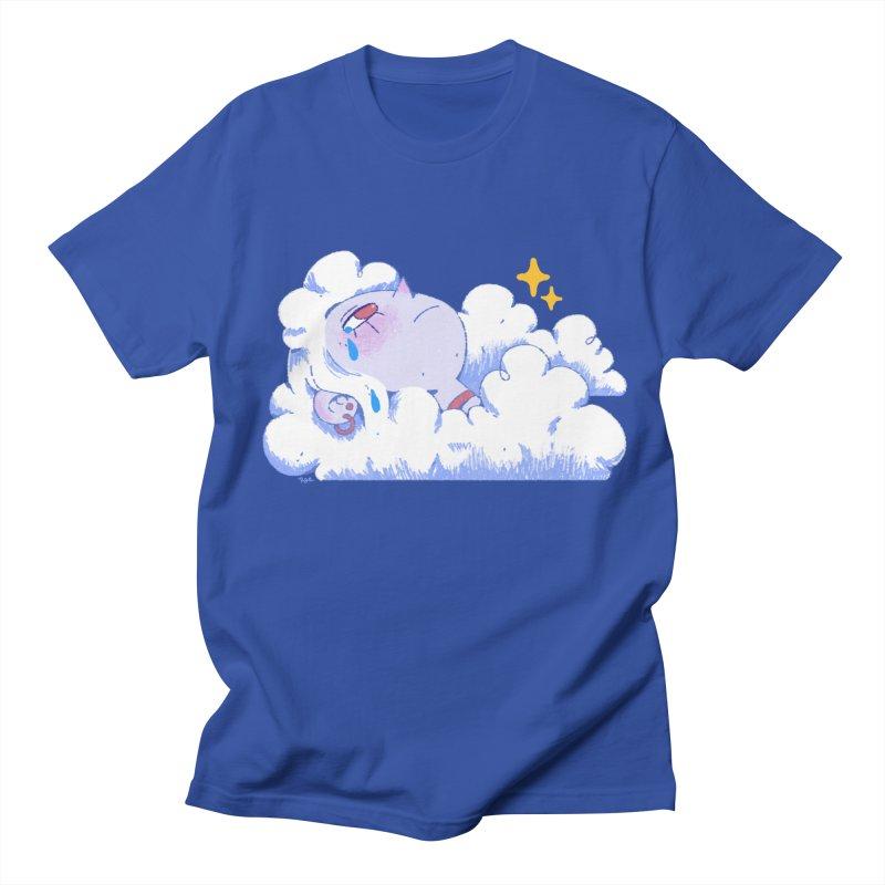 Crying Cloud in Men's Regular T-Shirt Royal Blue by Ree Artwork