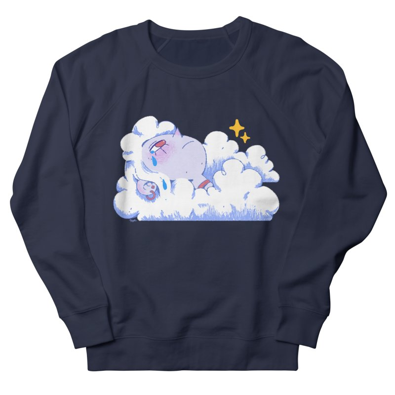 Crying Cloud Men's French Terry Sweatshirt by Ree Artwork