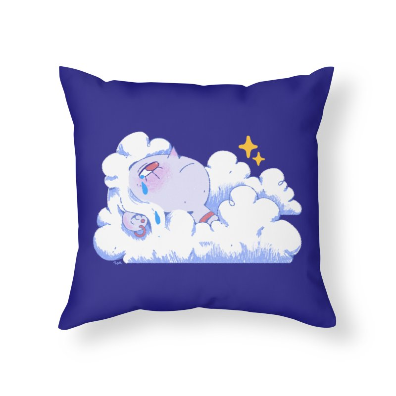Crying Cloud Home Throw Pillow by Ree Artwork