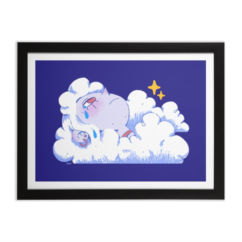 Crying Cloud Home Framed Fine Art Print by Ree Artwork