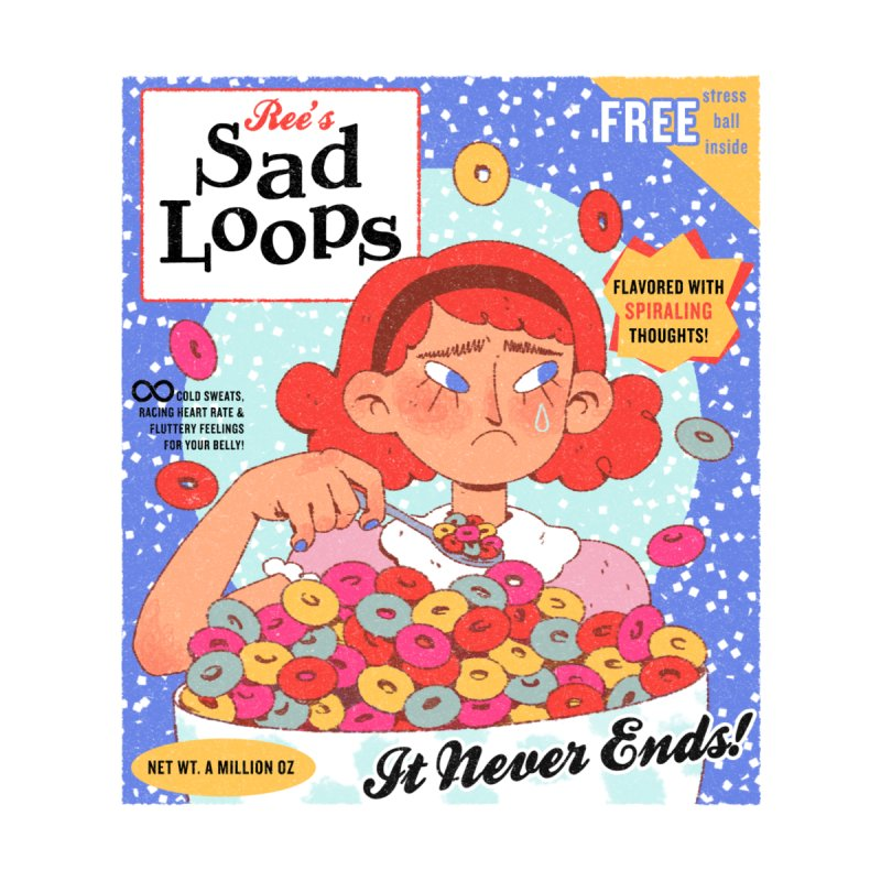 Sad Loops Accessories Sticker by Ree Artwork