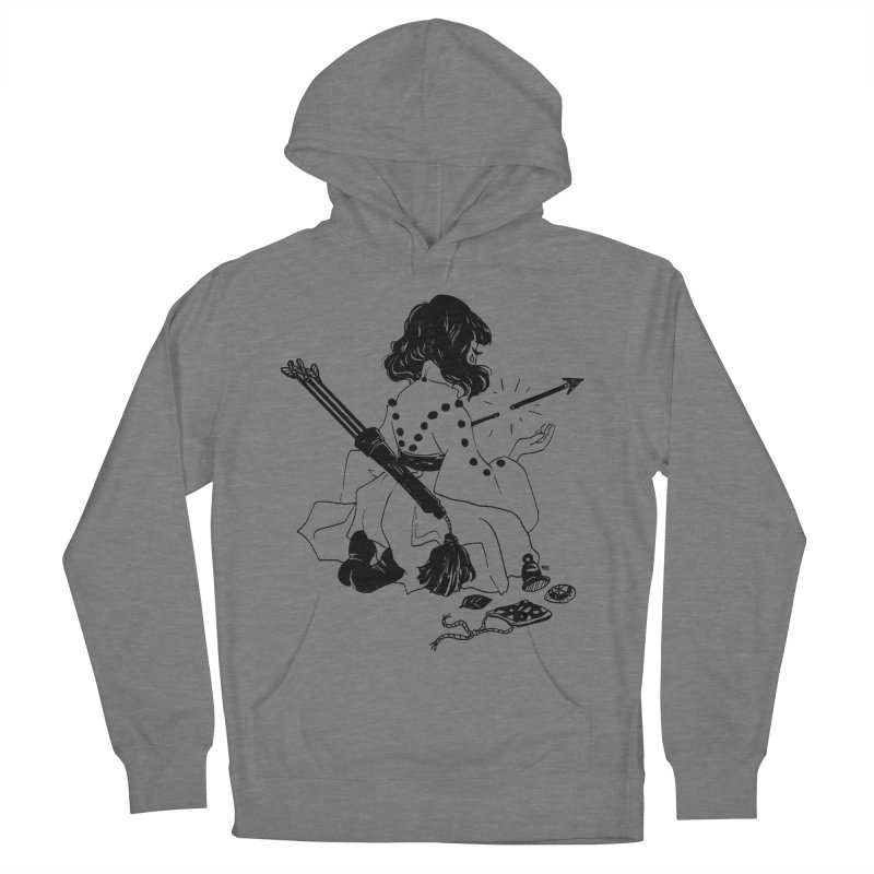 Broken Weaponry Women's French Terry Pullover Hoody by Ree Artwork