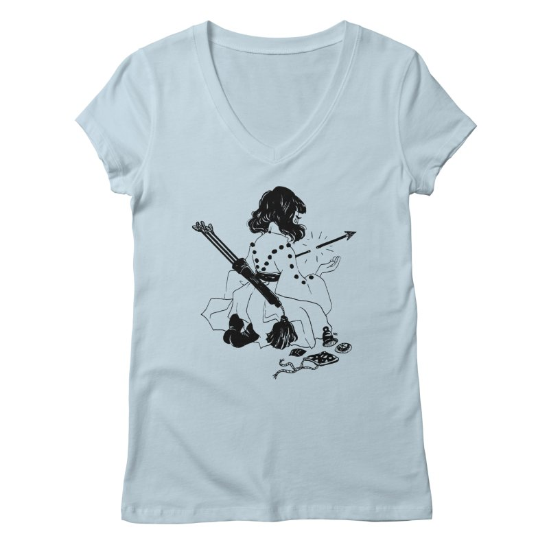 Broken Weaponry Women's V-Neck by Ree Artwork