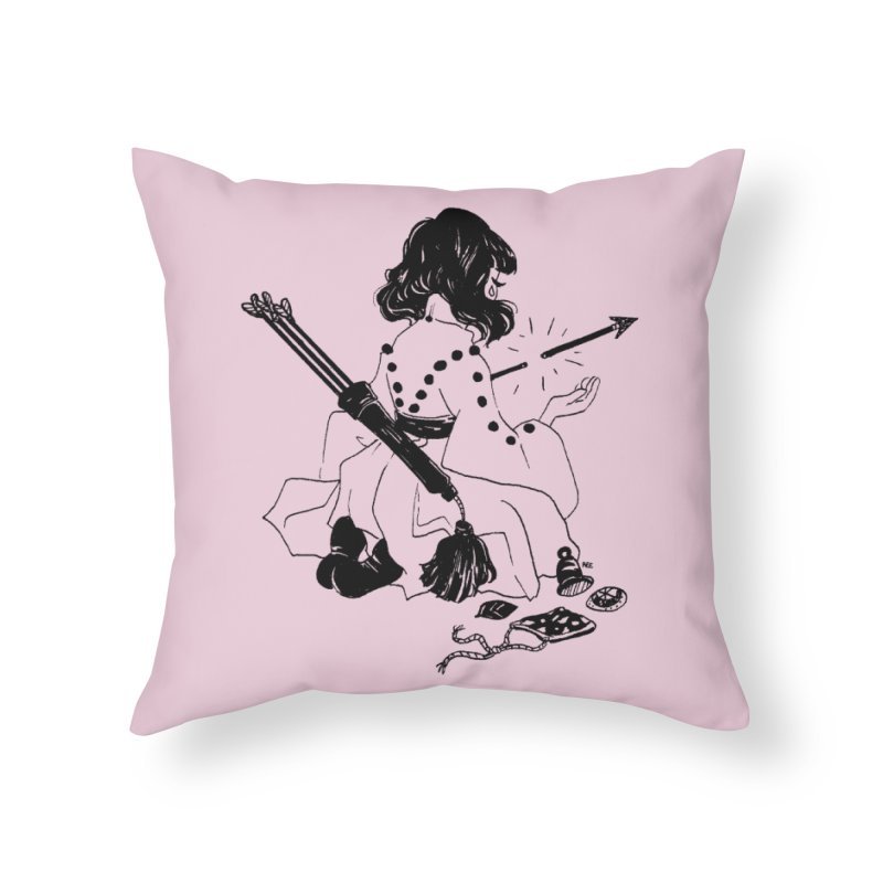 Broken Weaponry Home Throw Pillow by Ree Artwork