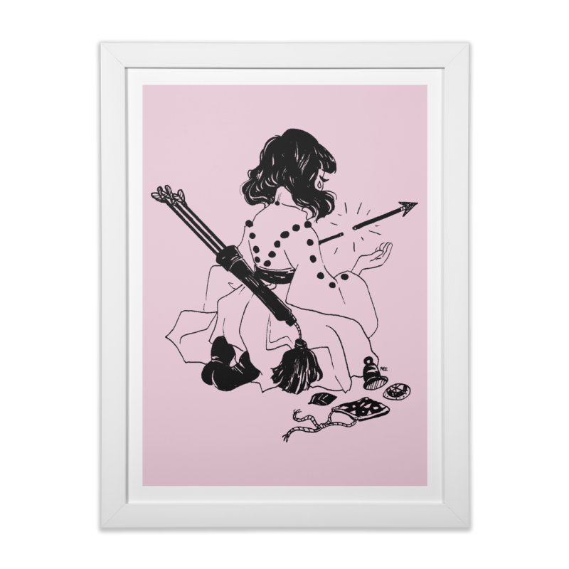 Broken Weaponry Home Framed Fine Art Print by Ree Artwork