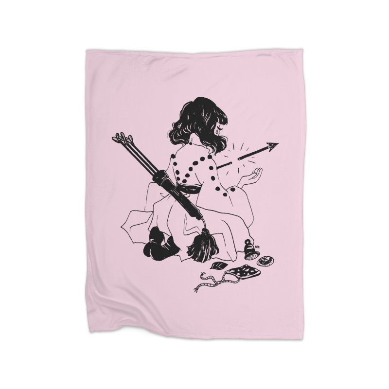Broken Weaponry Home Blanket by Ree Artwork