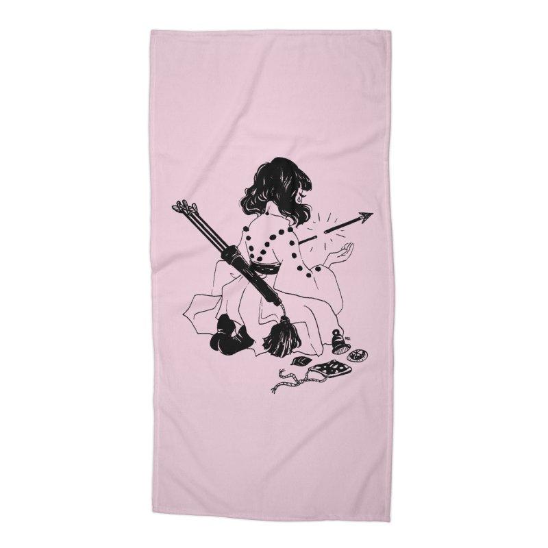 Broken Weaponry Accessories Beach Towel by Ree Artwork