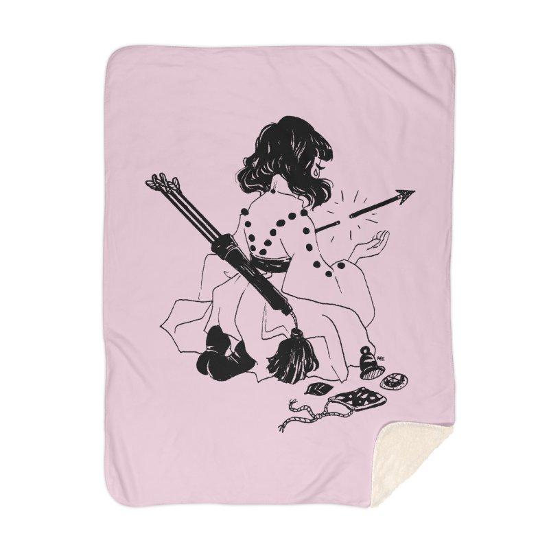 Broken Weaponry Home Blanket by Ree Artwork