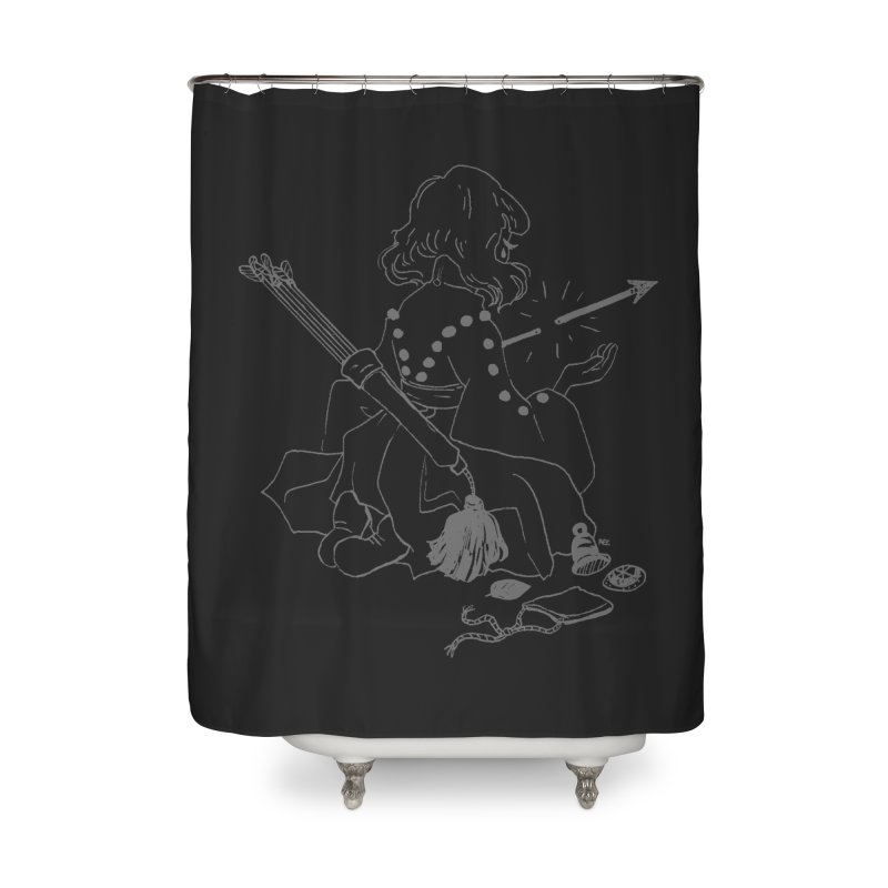 Broken Weaponry (2) Home Shower Curtain by Ree Artwork