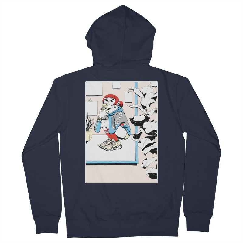 Selfie Men's Zip-Up Hoody by Ree Artwork