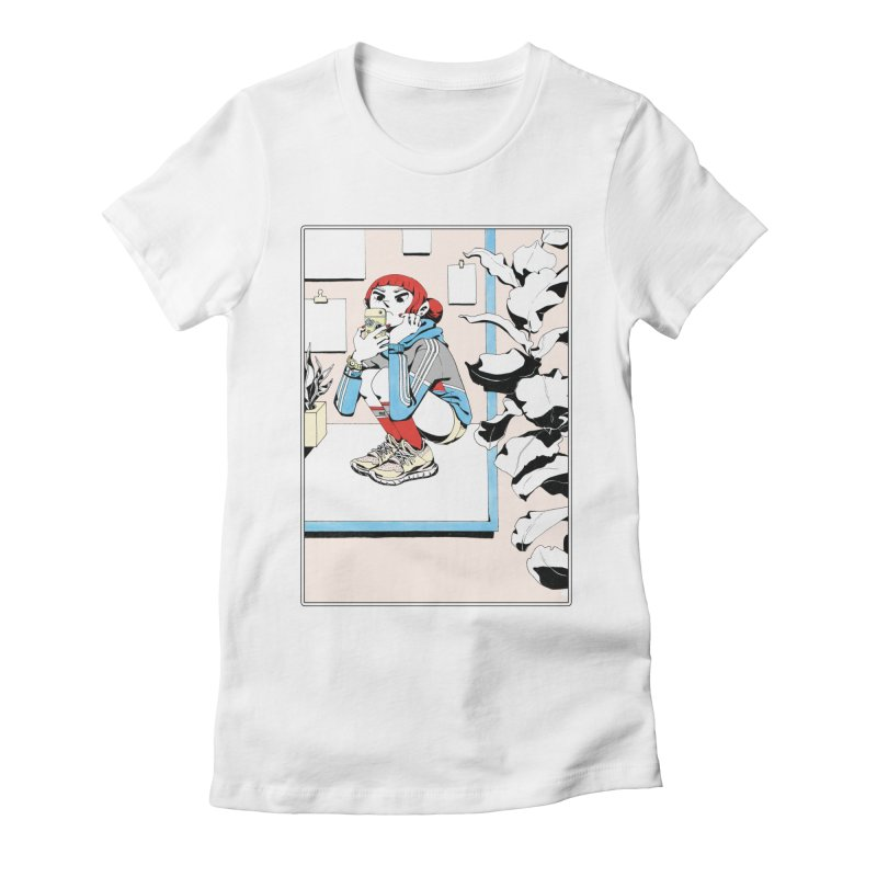 Selfie Women's Fitted T-Shirt by Ree Artwork