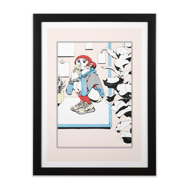 Selfie Home Framed Fine Art Print by Ree Artwork