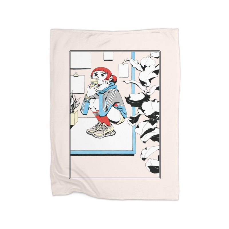 Selfie Home Fleece Blanket Blanket by Ree Artwork