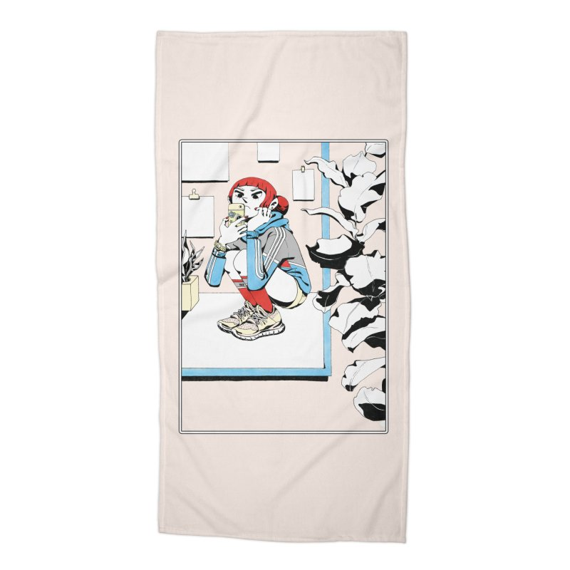 Selfie Accessories Beach Towel by Ree Artwork