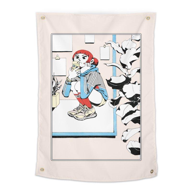 Selfie Home Tapestry by Ree Artwork