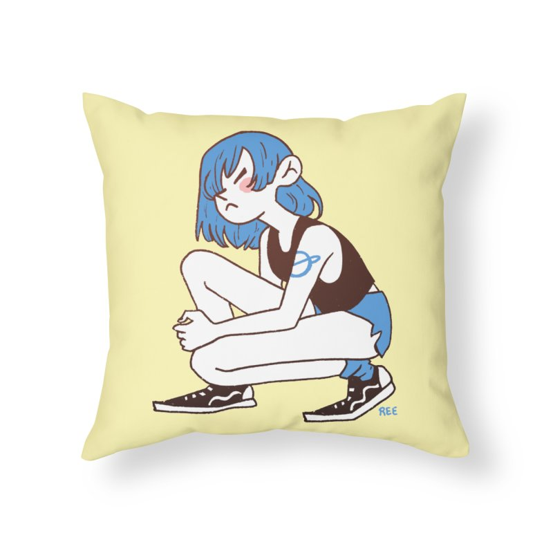 Indigo Home Throw Pillow by Ree Artwork
