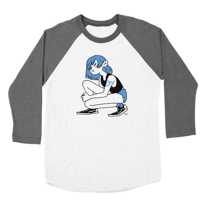 Indigo Men's Baseball Triblend Longsleeve T-Shirt by Ree Artwork