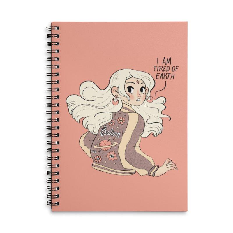 Bitter Saturnian Accessories Notebook by Ree Artwork