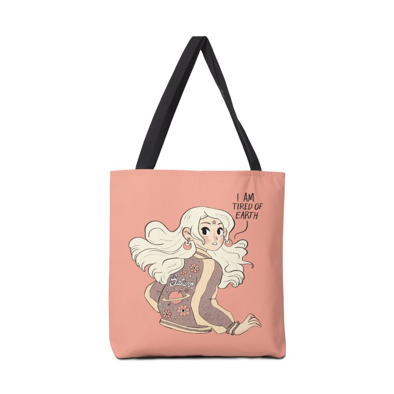 Bitter Saturnian Accessories Tote Bag Bag by Ree Artwork