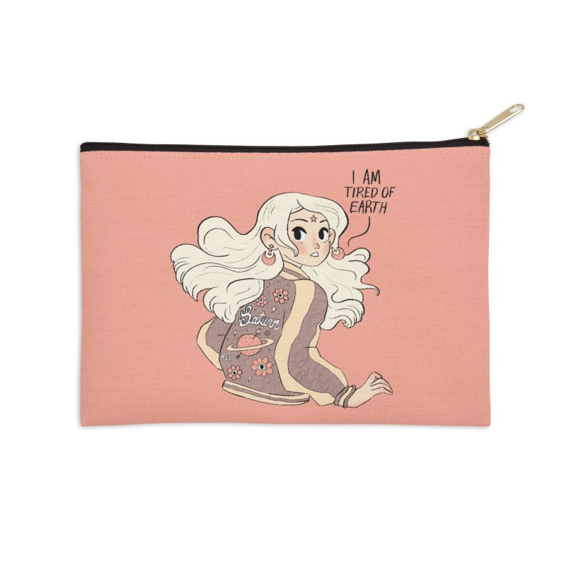 Bitter Saturnian Accessories Zip Pouch by Ree Artwork
