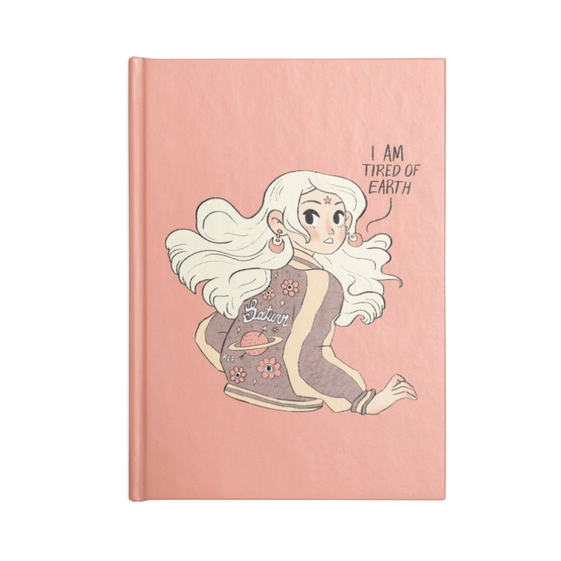 Bitter Saturnian Accessories Lined Journal Notebook by Ree Artwork