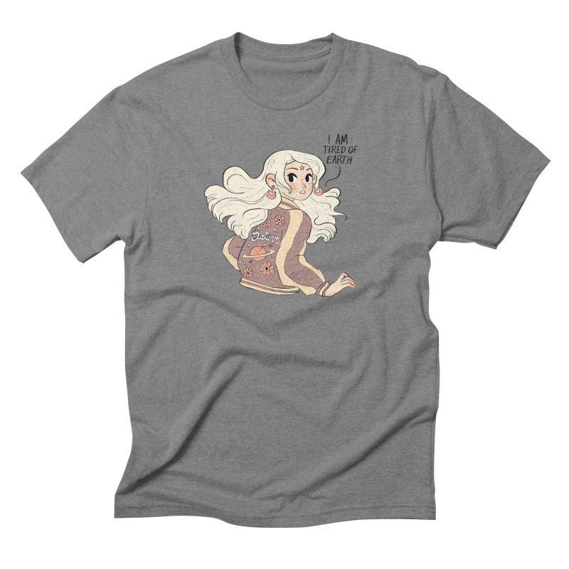 Bitter Saturnian Men's Triblend T-Shirt by Ree Artwork