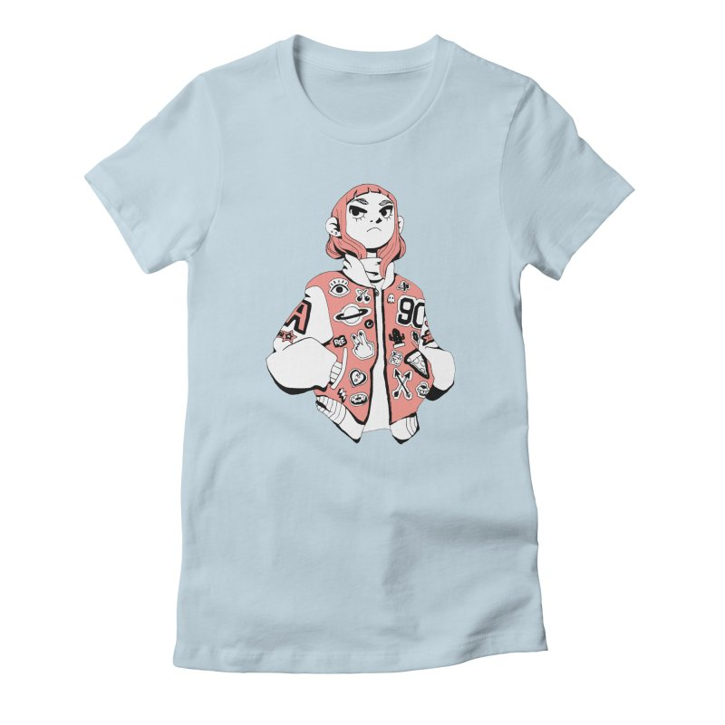Patch Much Women's Fitted T-Shirt by Ree Artwork