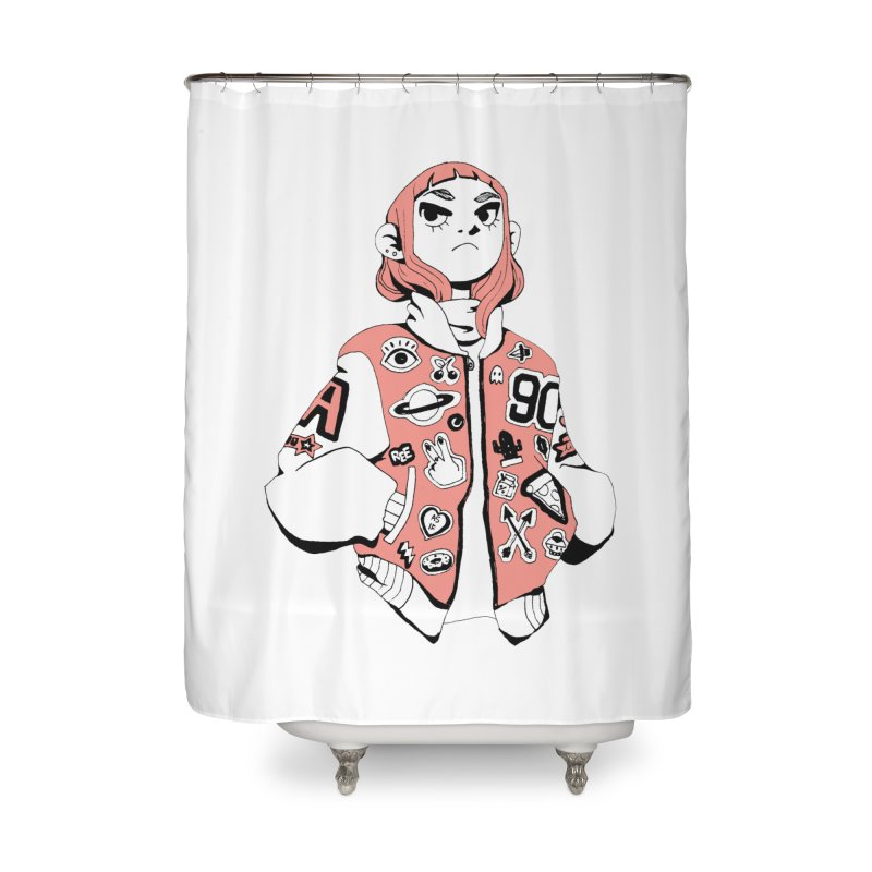 Patch Much Home Shower Curtain by Ree Artwork
