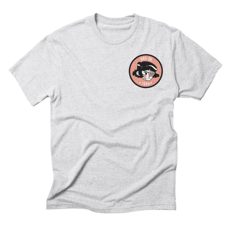 85% OK (Badge) Men's Triblend T-Shirt by Ree Artwork