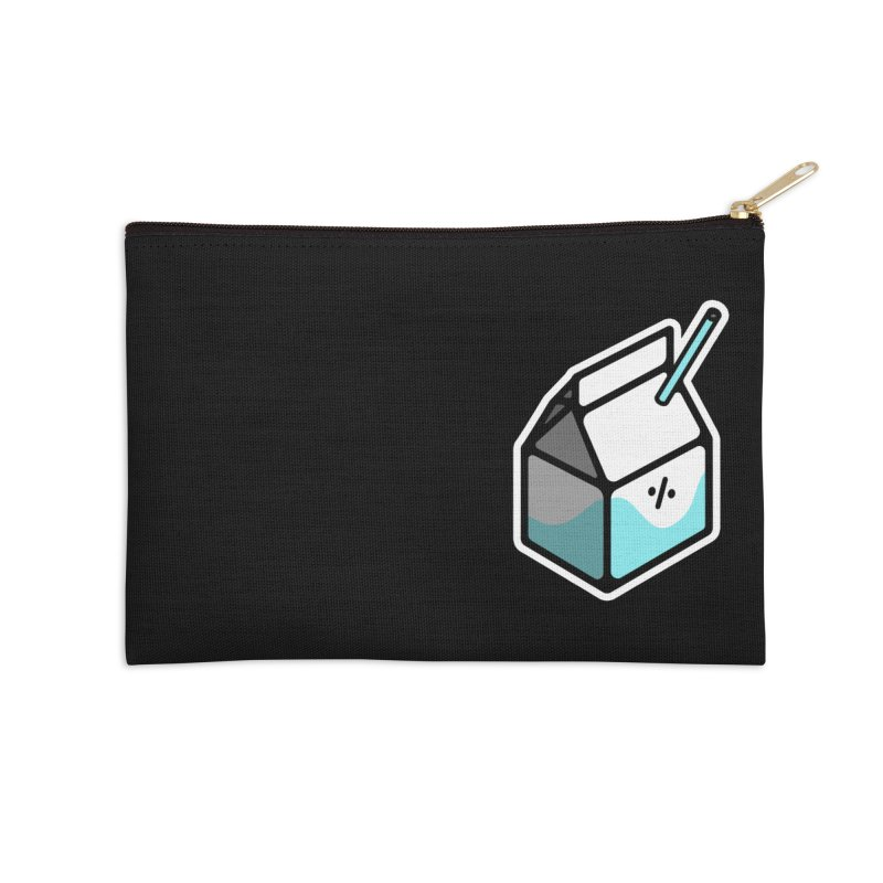 Milk Percent Accessories Zip Pouch by Ree Artwork