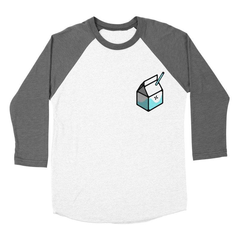Milk Percent Men's Baseball Triblend Longsleeve T-Shirt by Ree Artwork