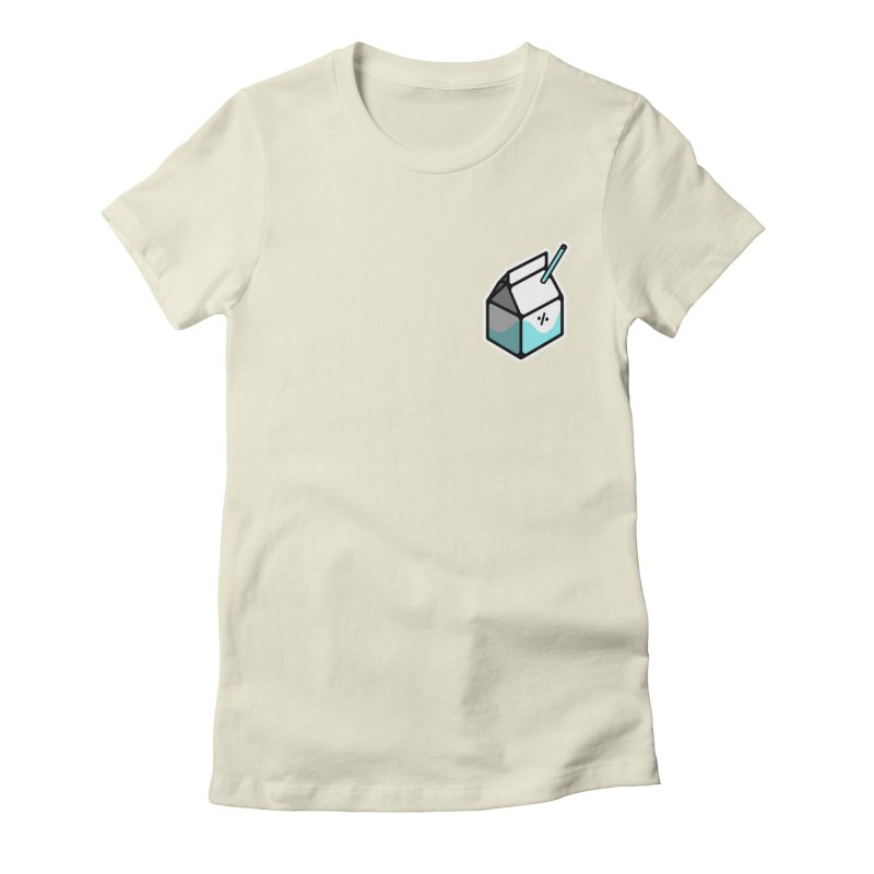 Milk Percent Women's Fitted T-Shirt by Ree Artwork